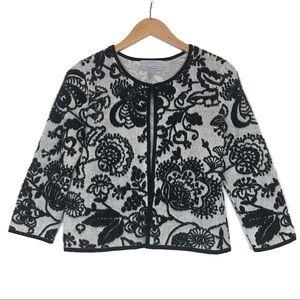 100% Cashmere Classiques Entier Floral Cardigan S
